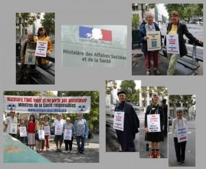 Mahnwache vor dem Gesundheitsministerium in Paris – August 2014
