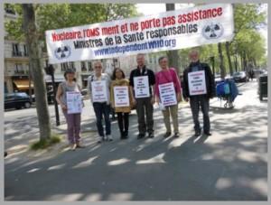 Mahnwache vor dem Gesundheitsministerium in Paris – April 2015