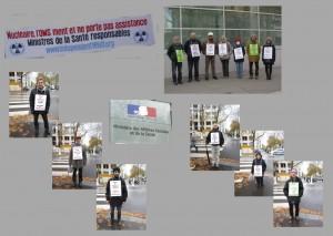 Teilnehmer_innen der Mahnwache vor dem Gesundheitsministerium, November 2012