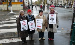 Vigil outside the Ministry of Health in Paris – December 2012