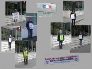 Les vigies devant le ministère de la santé le  9 novembre 2012