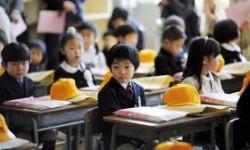 Enfants dans une école près de Fukushima