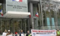 Vigie devant le ministère de la santé à Paris