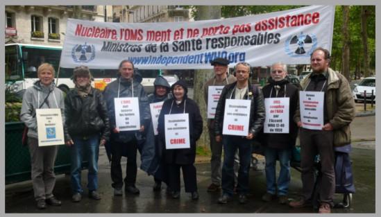 Les vigies devant le ministère de la santé – Paris – Mai 2013