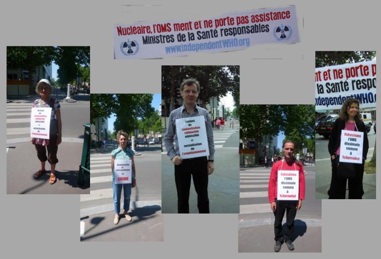 Les vigies devant le ministère de la santé – Paris – Juin 2013