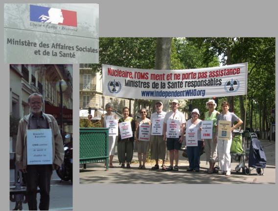 Les vigies devant le ministère de la santé – Paris – Août 2013
