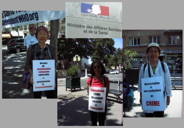 Les vigies devant le ministère de la santé – Paris – Juillet 2013