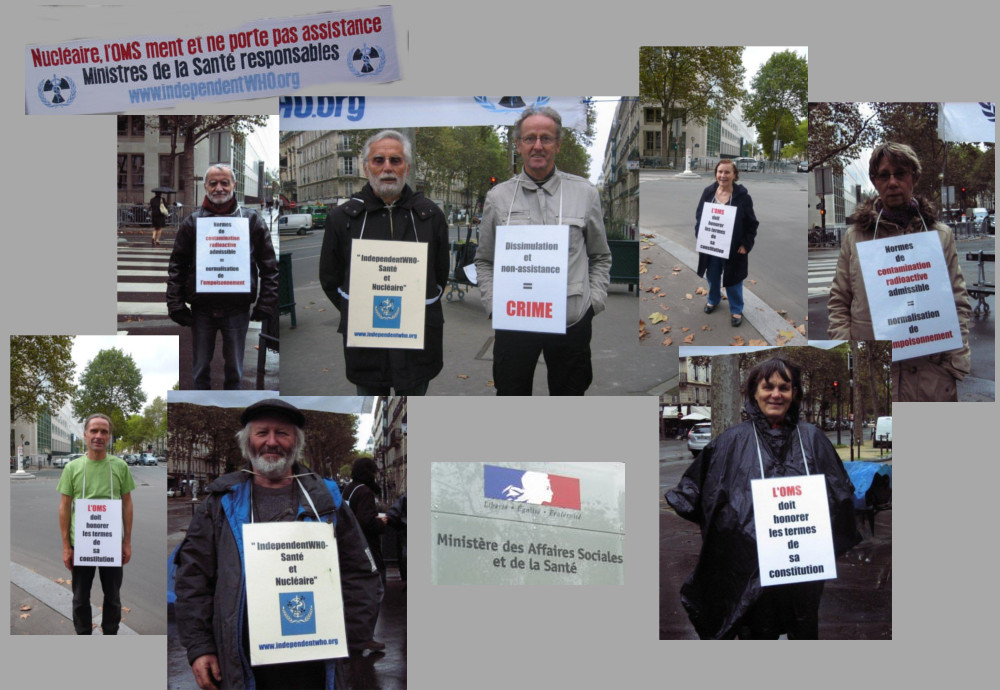 Les vigies devant le ministère de la santé – Paris – Octobre 2013