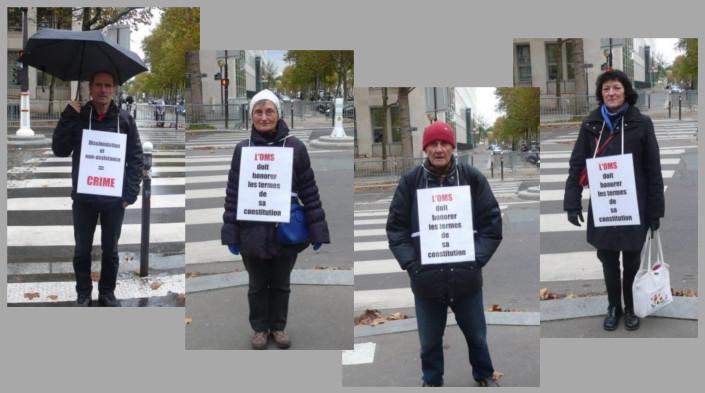 Les vigies devant le ministère de la santé – Paris – Novembre 2013