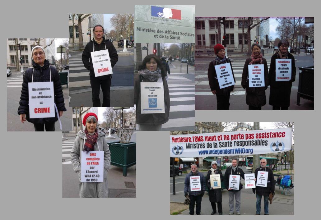 Les vigies devant le ministère de la santé – Paris – Janvier 2014