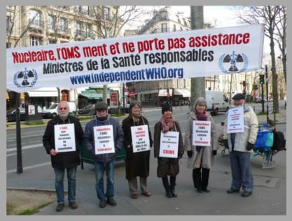 Les vigies devant le ministère de la santé – Paris – Février 2014