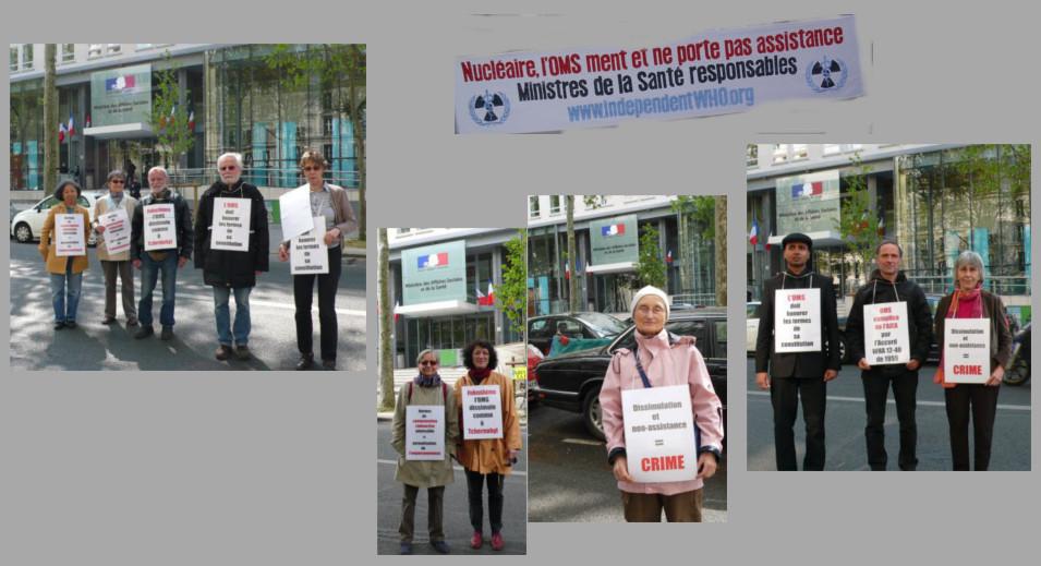 Les vigies devant le ministère de la santé – Paris – Avril 2014