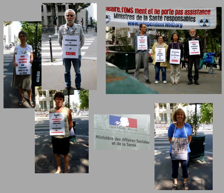 Les vigies devant le ministère de la santé – Paris – Juillet 2014
