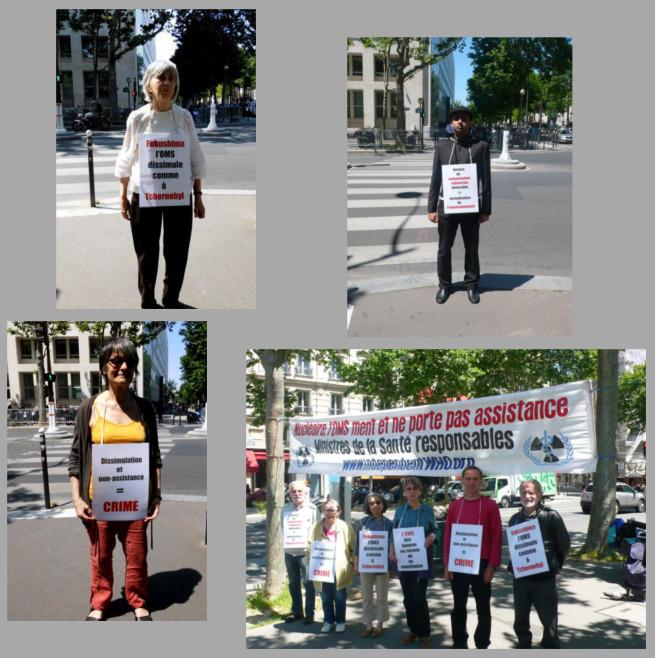 Les vigies devant le ministère de la santé – Paris – Juin 2014