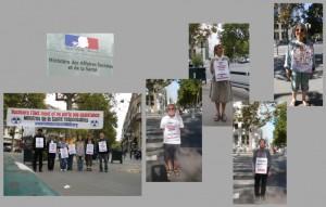 Les vigies devant le ministère de la santé – Paris – Septembre 2014
