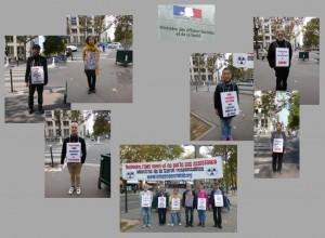 Les vigies devant le ministère de la santé – Paris – Octobre 2014