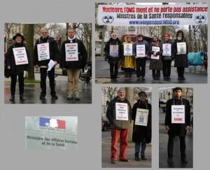 Les vigies devant le ministère de la santé – Paris – Janvier 2015