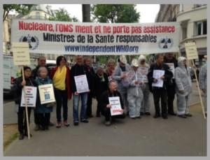 2017年5月5日 パリ保健省前での最後のビジー活動